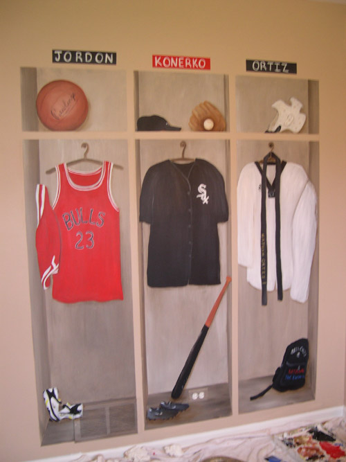 Cool Sports Murals for Boys' Rooms