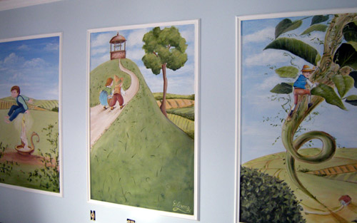 Mother Goose Nursery Rhyme Murals - Artwork