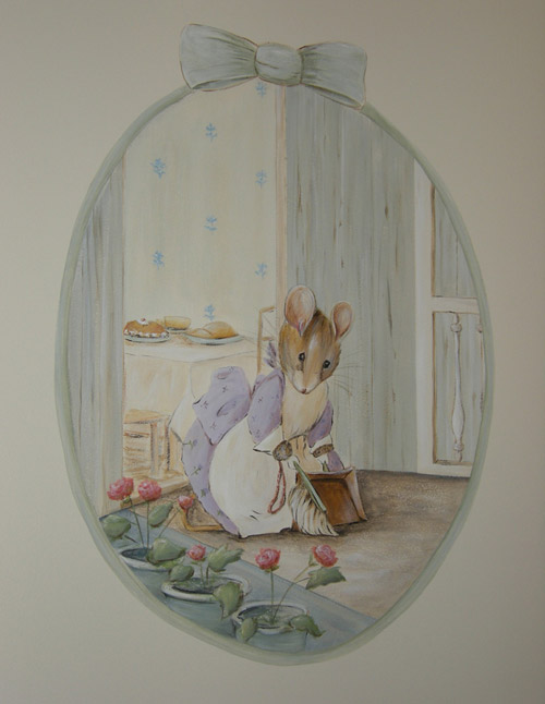Beatrix Potter Girl Mouse Mural - Peter Rabbit