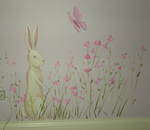 Bunnies and Butterflies for Girl's Room