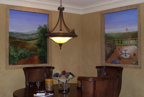 Artist for Luxury Home Tour Murals