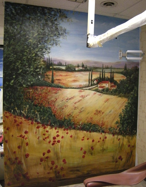 Commercial Murals - Impressionist Murals Offices - Monet