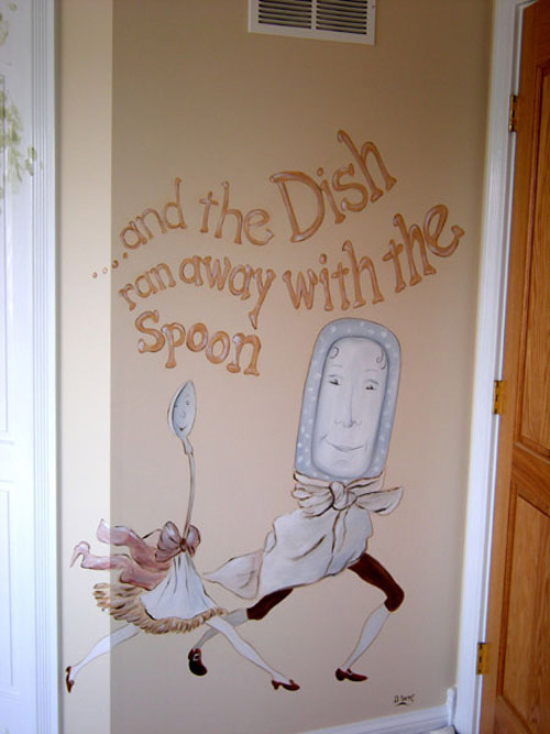 Nursery Hand Painting - Hand Painted Baby's Room