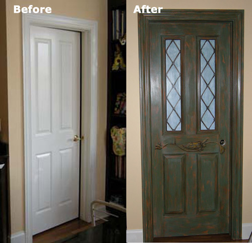 Hand-Painted Pantry Door