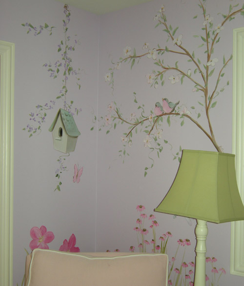 Flower Bedroom for Little Girl