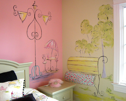 Paris Scene - French Theme - Teenage Girl's Room