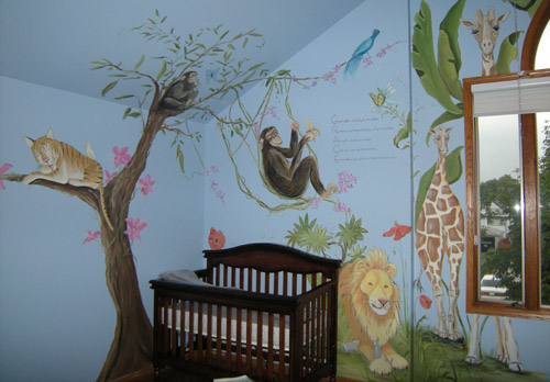 Nursery Murals - Murals for Baby's Rooms - Newborn Baby