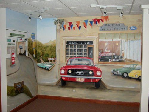 Old Route 66 Artwork - Wall Murals - Personalized