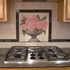 Flower Still Life Painted on Tile - Back Splash