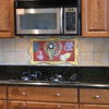 Matisse Backsplash with faux stone