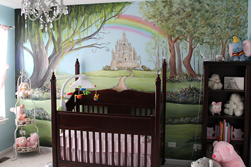 Fairytale Castle Nursery Mural