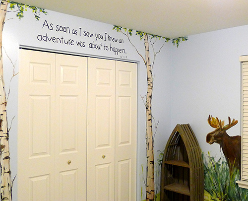 Northwoods Nursey Wall Quote - Hand Lettering